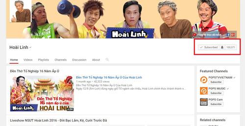 Lượng fan khủng, Hoài Linh thành đối tác của Youtube - 2