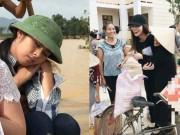Đời sống Showbiz - Ngày 20/10 ý nghĩa và hạnh phúc của mỹ nhân Việt ở vùng lũ