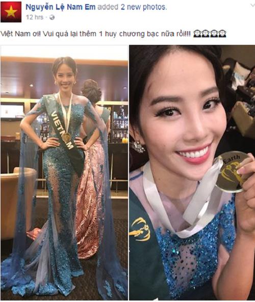 Nam Em thắng tiếp giải Bạc trang phục đẹp ở Miss Earth - 1