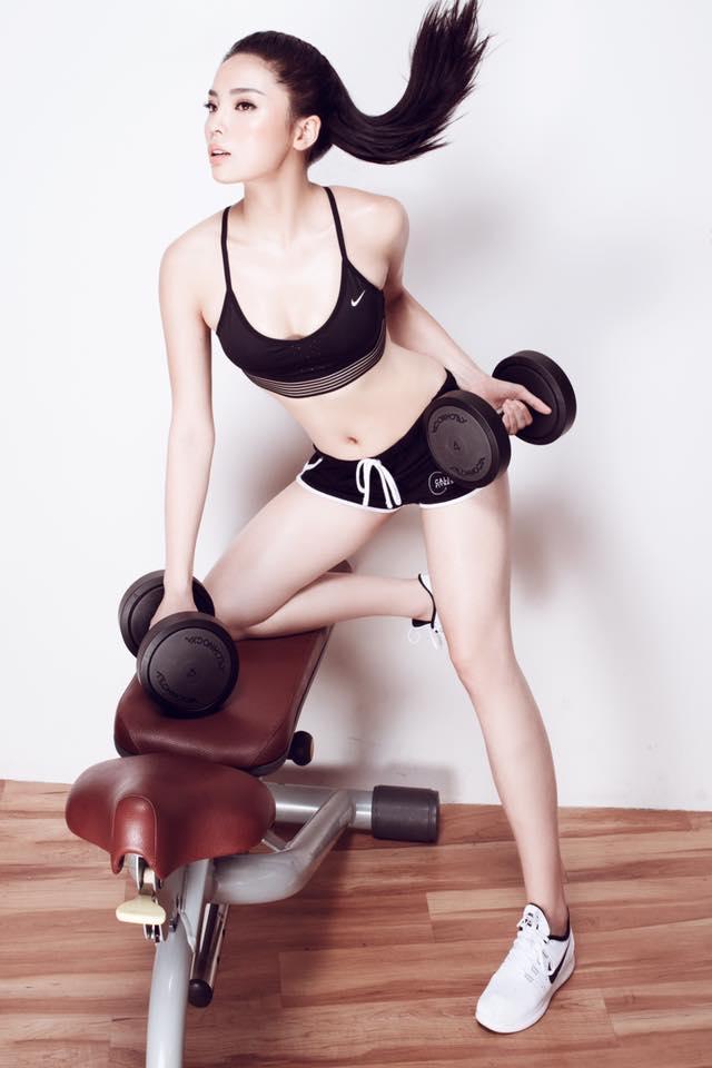 Kỳ Duyên gợi cảm, nuột nà tập gym khiến fan mê mệt - 7