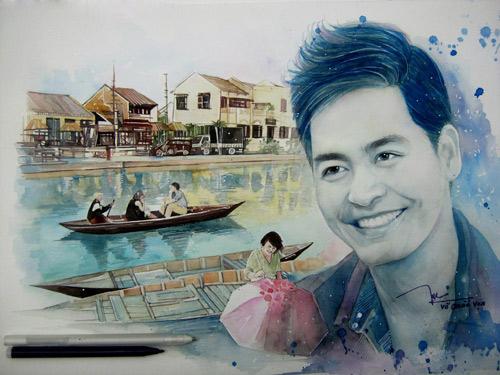 9X vẽ MC Phan Anh rạng rỡ ngắm miền Trung sau cơn bão lũ - 2