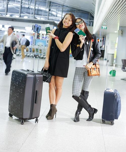 Mai Ngô mặt mộc cùng Lan Khuê bay đi Hàn dự show - 2
