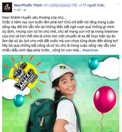 Noo Phước Thịnh ám chỉ kết quả The Voice Kids bất công? - 1