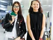 Mai Ngô mặt mộc cùng Lan Khuê bay đi Hàn dự show