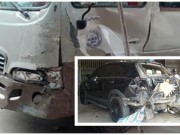 Video An ninh - Clip: Bé trai 13 tuổi lái xe khách gây tai nạn kinh hoàng