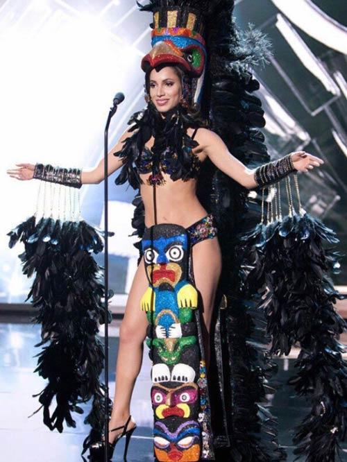Trang phục dân tộc sexy tới ngạt thở ở cuộc thi hoa hậu - 6