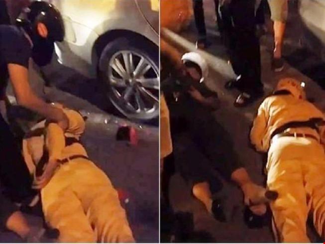 Truy đuổi xe vi phạm, 2 cảnh sát ngã bất tỉnh - 1