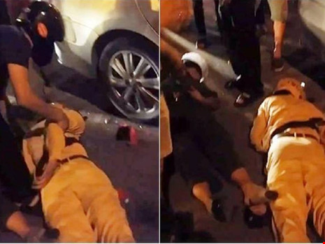 Truy đuổi xe vi phạm, hai cảnh sát ngã bất tỉnh - 1