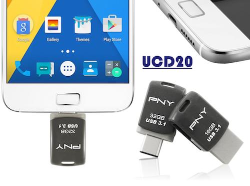 Ổ USB xoay 360 độ, tích hợp đồng thời 2 chuẩn kết nối - 1