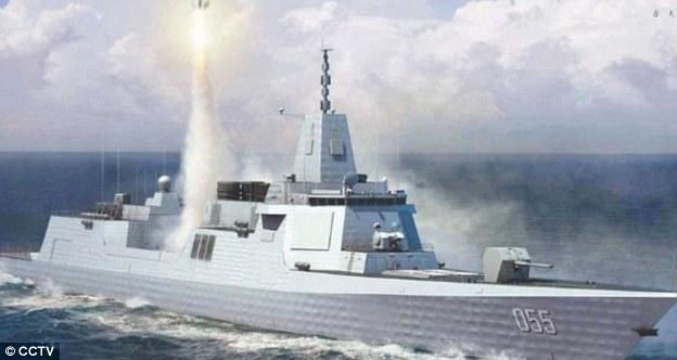 Lộ ảnh chiến hạm tàng hình lớn nhất TQ - 3