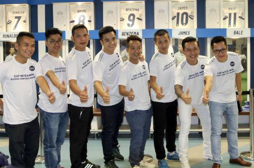 """Nhà vô địch FC Thành Đồng """"đột nhập"""" phòng thay đồ Real Madrid - 8"""