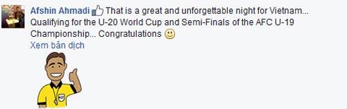 FIFA chúc mừng, báo thế giới khen kỳ tích World Cup của U19 VN - 2