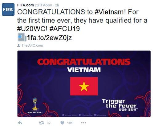 FIFA chúc mừng, báo thế giới khen kỳ tích World Cup của U19 VN - 3