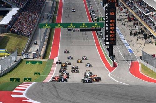 F1, US GP: Hamilton không để Rosberg nhàn hạ - 1