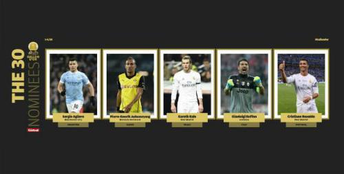 Ronaldo dẫn đầu 5 ứng viên đầu tiên tranh QBV 2016 - 2