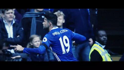 Đòn trừng phạt của Diego Costa - 1