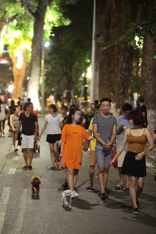 Cấm chó ở phố đi bộ: Chủ nhét chó vào túi để qua chốt - 5