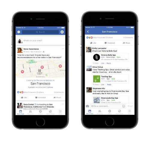 Facebook cập nhật hàng loạt chức năng mới trên iOS - 1