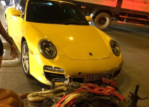 """Porsche 911 Carrera """"sứt đầu mẻ trán"""" trên phố Minh Khai - 1"""