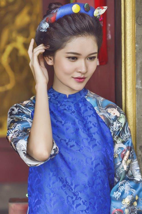 """Á hậu Việt Nam """"gây thương nhớ"""" với áo yếm, lưng trần - 6"""