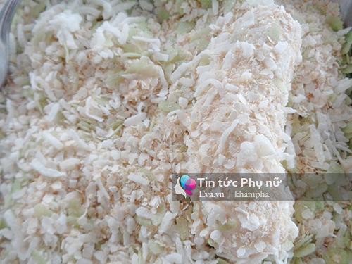 Nhâm nhi chuối lăn cốm chiên ngọt, giòn thơm - 6