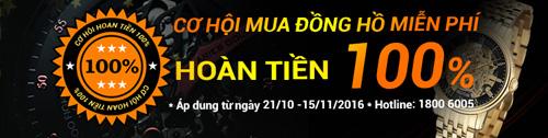 Cơ hội hoàn tiền 100% khi mua đồng hồ tại Đăng Quang - 1