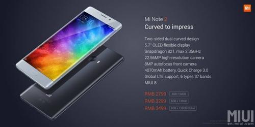 Xiaomi Mi Note 2 màn hình cong, chipset SD 821 - 3