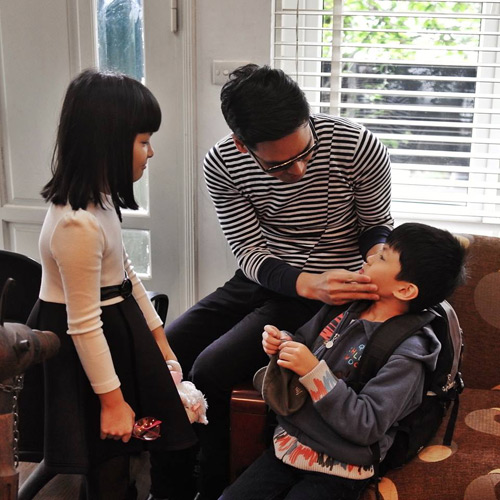 Tan chảy với hình ảnh bên vợ đẹp, con xinh của Phan Anh - 3