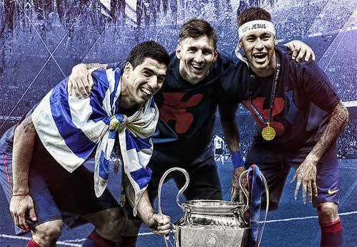 """Barca: Tròn 2 năm Messi-Suarez-Neymar """"oanh tạc"""" thế giới - 1"""