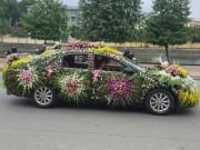 """Bạn trẻ - Cuộc sống - Chiếc xe dâu """"nhiều hoa nhất quả đất"""" của chú rể Nghệ An"""