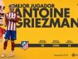 Cầu thủ hay nhất Liga: Griezmann số 1, CR7 trắng tay