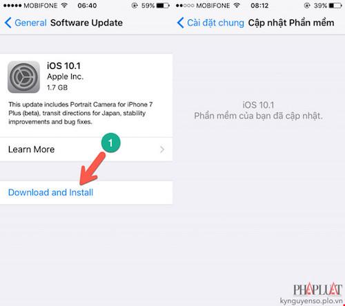 2 cách cập nhật iOS 10.1 cho iPhone - 1