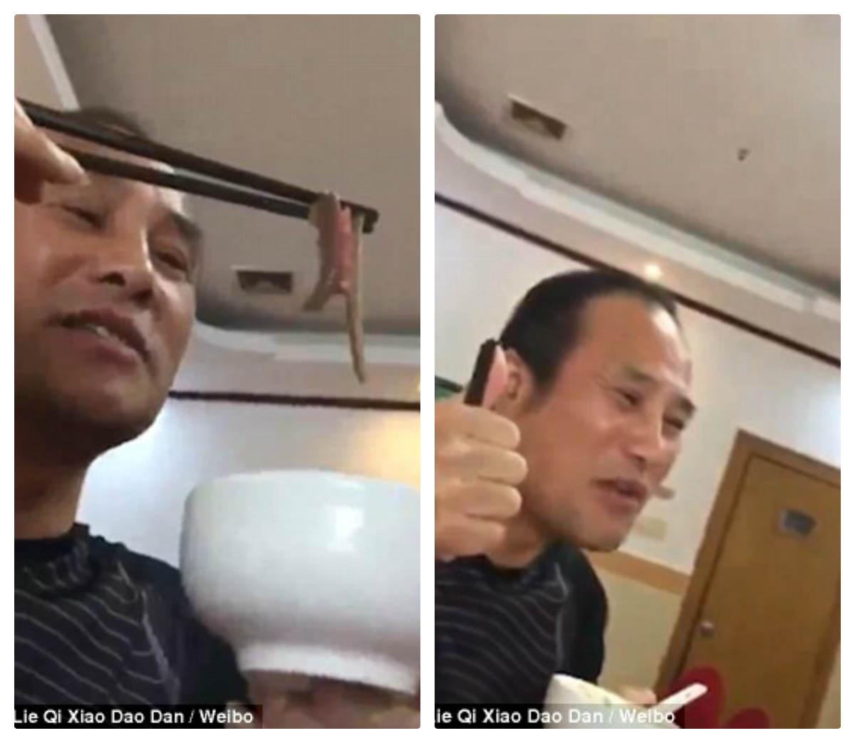 Video: Kinh dị người đàn ông ăn đỉa sống ngon lành - 2
