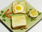 Ẩm thực - Biến tấu với bánh mì sandwich trứng và thịt bò