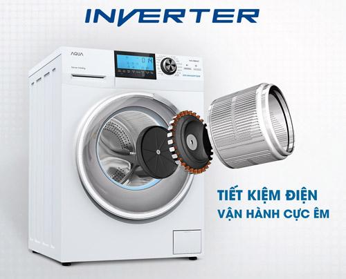 Máy giặt lồng ngang AQUA INVERTER: Đổ đầy khay 1 lần, giặt khoảng 20 lần - 3