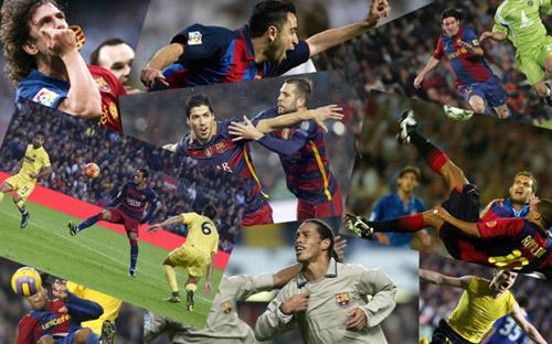 """Siêu phẩm số 1 Barca: Rô """"béo"""" đấu Ronaldinho, Messi - 1"""