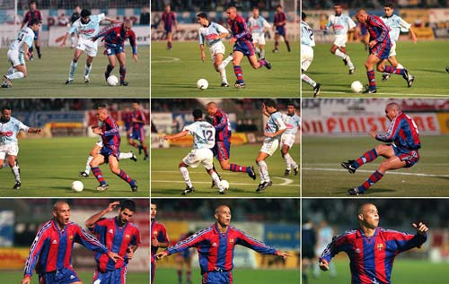 """Siêu phẩm số 1 Barca: Rô """"béo"""" đấu Ronaldinho, Messi - 2"""