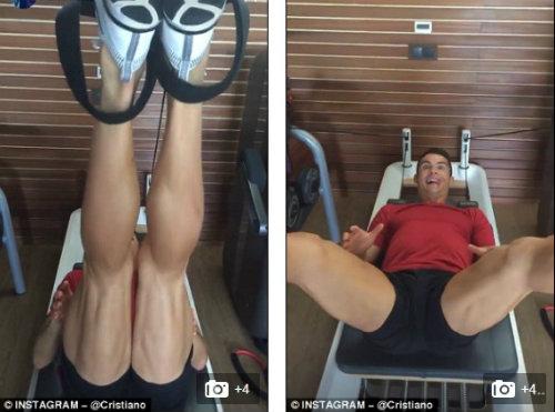 Ronaldo khoe cơ bắp trên trang cá nhân 80 triệu lượt xem - 1