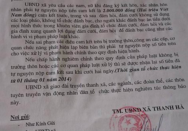 """""""Đặt cọc"""" 2 triệu mới đăng ký kết hôn: Chủ tịch huyện bất ngờ - 2"""