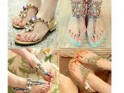 Thời trang - 4 chiêu tự làm đôi dép sandal bệt đẹp lóa mắt