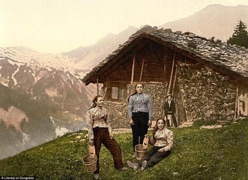 Cảnh đẹp và cuộc sống trên dãy Alps cách đây 100 năm - 4
