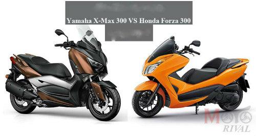 So găng Yamaha X-Max 300 và Honda Forza 300 - 1