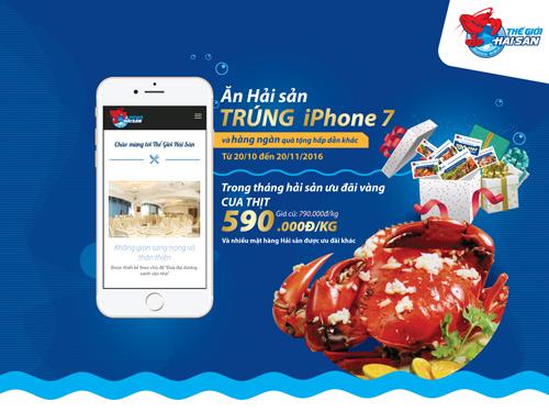 Ăn hải sản, trúng iPhone 7 - 3