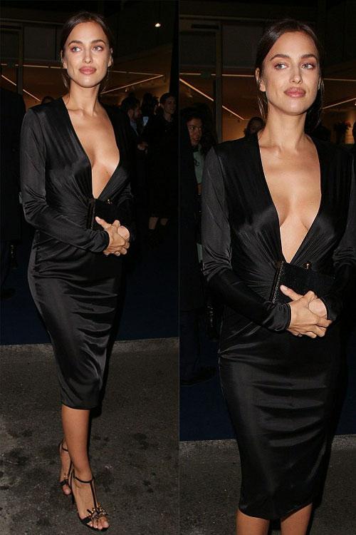 Irina Shayk khoe vòng 1 tự nhiên với váy khoét tận rốn - 6