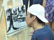 Bạn trẻ - Cuộc sống - Chàng họa sĩ bị chất độc da cam vẽ tranh bằng miệng