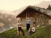 Cảnh đẹp và cuộc sống trên dãy Alps cách đây 100 năm