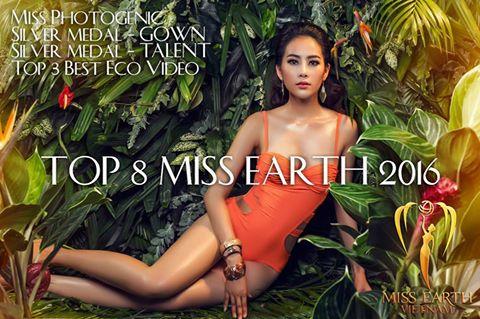 Nam Em lập kỳ tích lọt top 8 Hoa hậu Trái Đất 2016 - 1