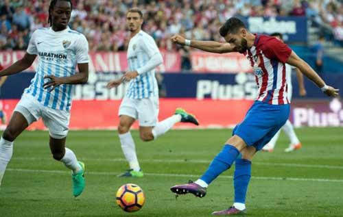 Atletico Madrid – Malaga: Kịch tính 6 bàn thắng - 1