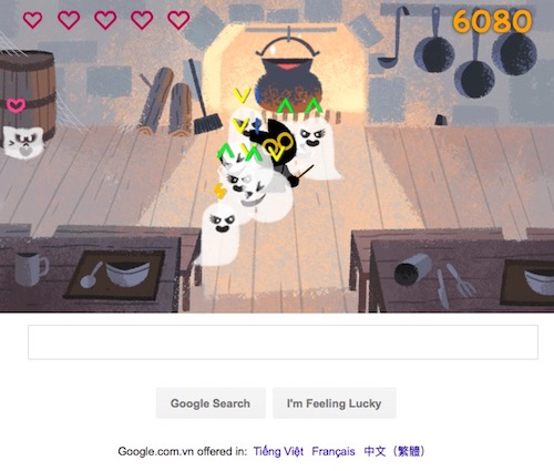 "Chơi game ""Diệt trừ yêu ma"" trên Google Search - 4"