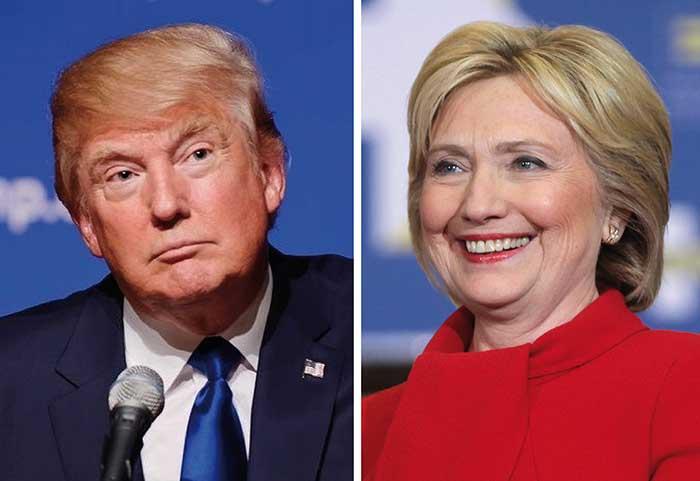 """Bầu cử Mỹ: Trump """"phà hơi nóng"""" vào gáy Hillary Clinton - 1"""